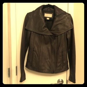 Michael by Michael kors brown leather jacket